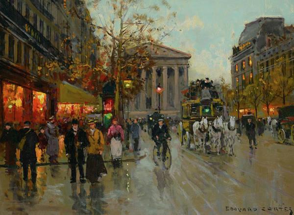 Boulevard Painting - Boulevard De La Madeleine by Edouard Leon Cortes