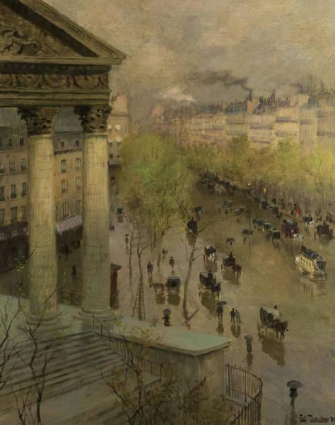 Boulevard Painting - Boulevard De La Madeleine In Paris, 1897 by Frits Thaulow