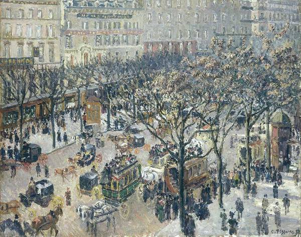 Wall Art - Painting - Boulevard Des Italiens - Morning, Sunlight, 1897 by Camille Pissarro