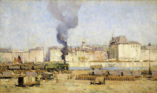 Wall Art - Painting - Boulogne - Digital Remastered Edition by Arthur Streeton