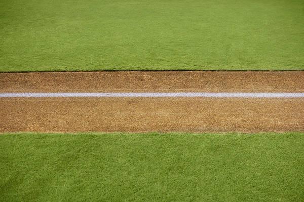 Team Sport Photograph - Boundary Marking On Baseball Field by Whit Preston