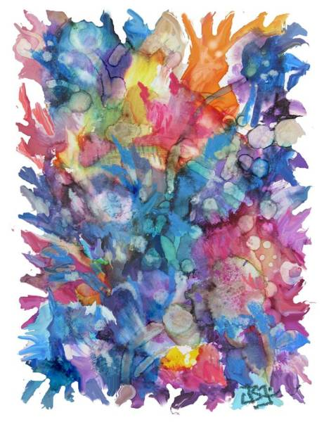 Painting - Bouquet-70719 by Jean Batzell Fitzgerald