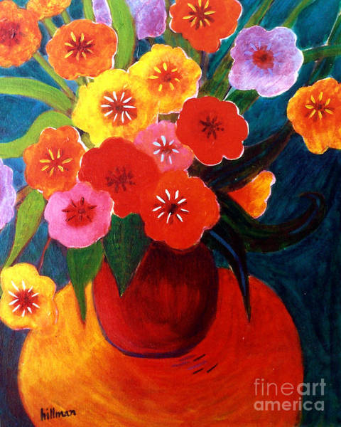 Wall Art - Painting - Bouquet For Jody 1997 by A Hillman