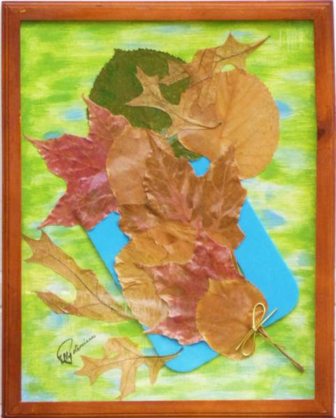 Mixed Media - Bouquet From Fallen Leaves by Elly Potamianos