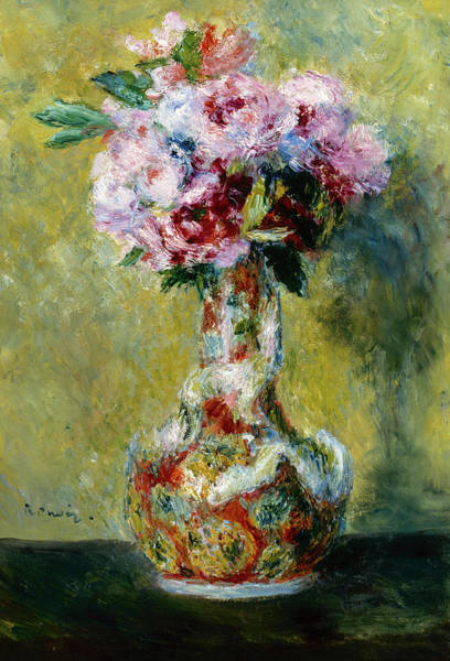 Wall Art - Painting - Bouquet In A Vase, 1878 by Auguste Renoir