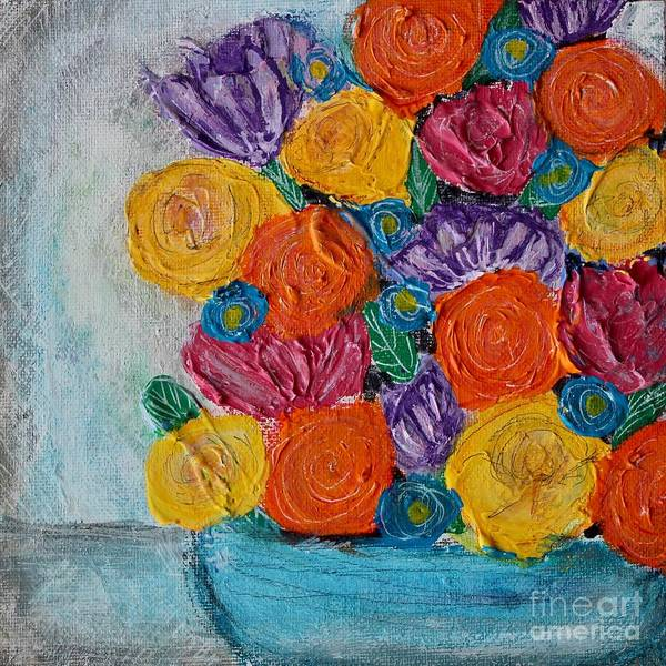 Painting - Bouquet In Blue by Kim Nelson