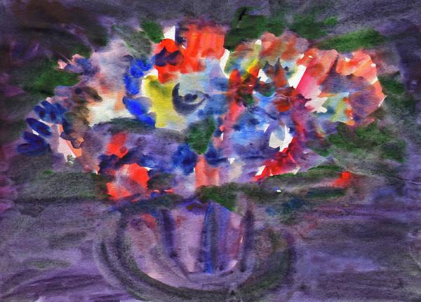 Painting - Bouquet In The Dark by Irina Dobrotsvet