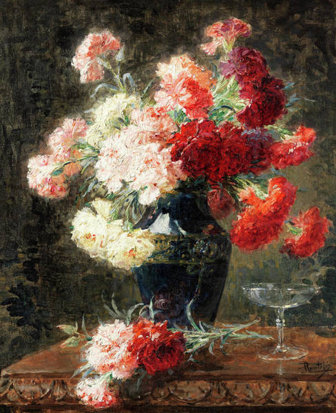 Wall Art - Painting - Bouquet Of Flowers by Pierre Eugene Montezin