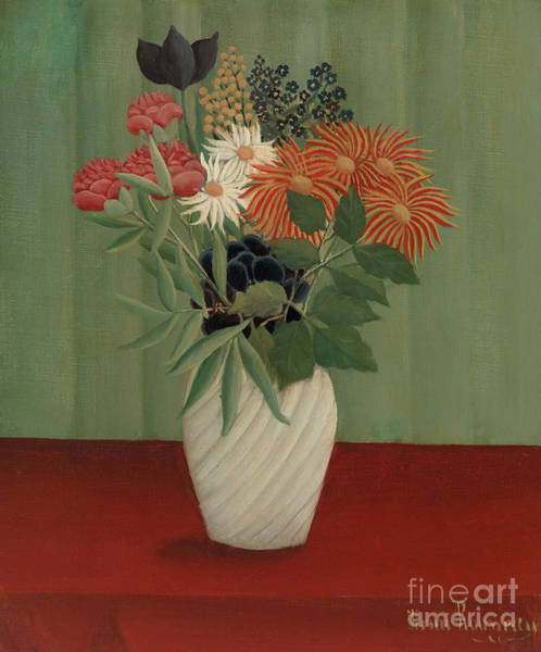 Wall Art - Painting - Bouquet Of Flowers With China Asters And Tokyos, 1910 by Henri Rousseau