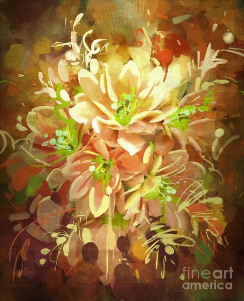 Wall Art - Digital Art - Bouquet Of Flowers,digital by Tithi Luadthong