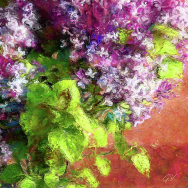 Wall Art - Digital Art - Bouquet Of Fresh Spring Lilac by Vitaliy Gladkiy