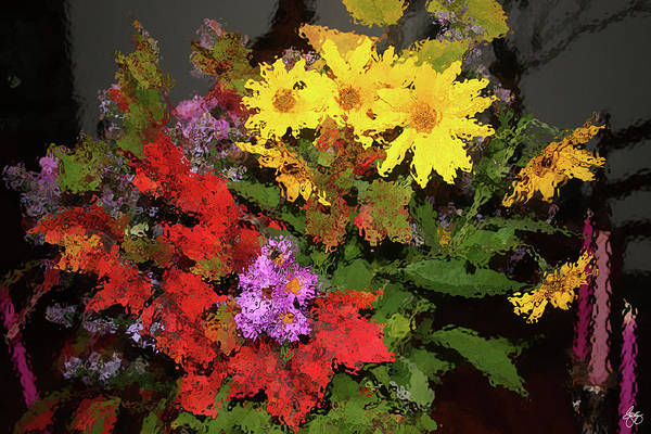 Photograph - Bouquet Through Glass by Wayne King
