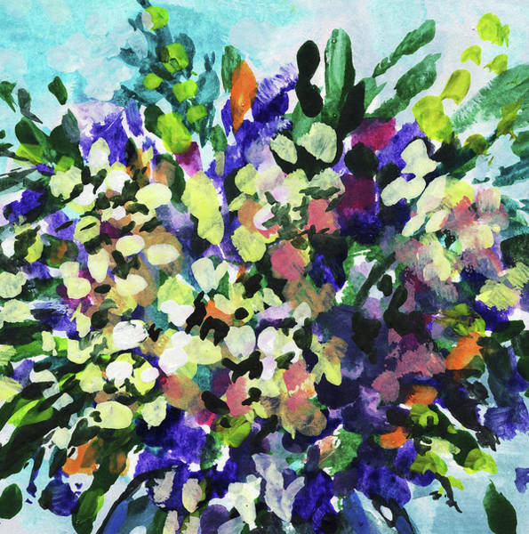 Painting - Bouquet Wildflowers Splash Floral Impressionism  by Irina Sztukowski