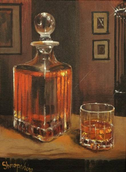 Blanton Wall Art - Painting - Bourbon Break by Tom Shropshire