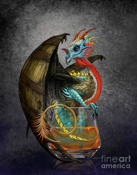 Turkey Digital Art - Bourbon Dragon by Stanley Morrison
