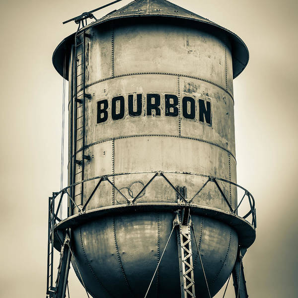 Photograph - Bourbon Tower - Sepia by Gregory Ballos