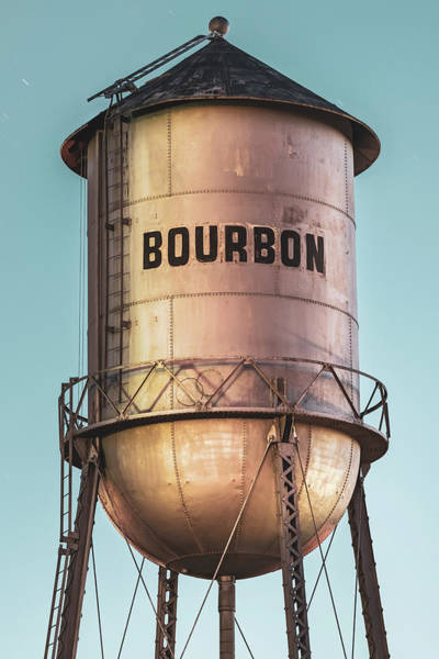Photograph - Bourbon Water Tower Architecture At Dusk by Gregory Ballos