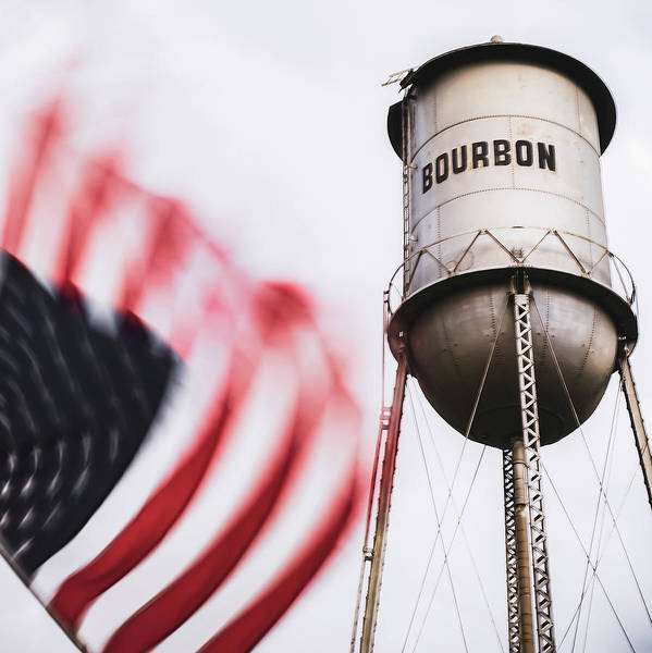 Photograph - Bourbon Water Tower Usa Vintage - 1x1 by Gregory Ballos