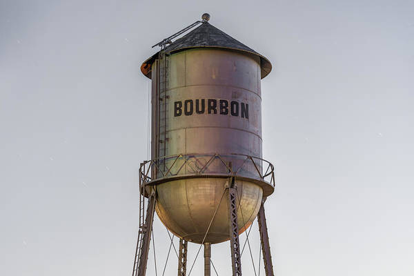 Photograph - Bourbon Water Tower Vintage Decor by Gregory Ballos