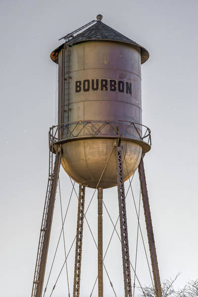 Photograph - Bourbon Water Tower Vintage Decor - Vertical Format by Gregory Ballos