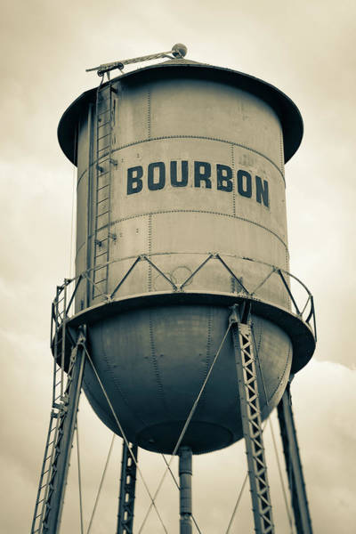 Photograph - Bourbon Whiskey Old Water Tower - Sepia Edition by Gregory Ballos