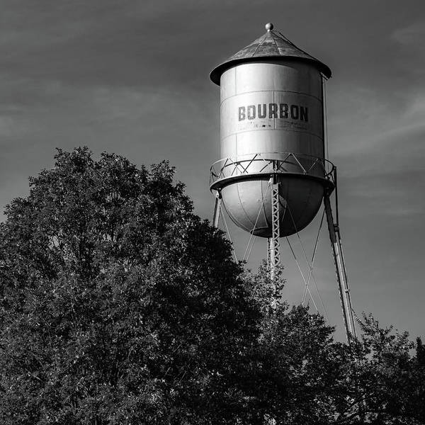 Photograph - Bourbon Whiskey Route 66 Monochrome Art by Gregory Ballos