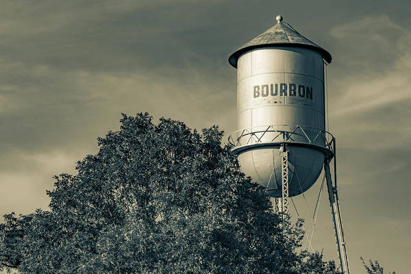 Wall Art - Photograph - Bourbon Whiskey Water Tower In Sepia Light by Gregory Ballos