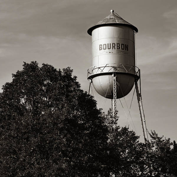 Photograph - Bourbon Whiskey Water Tower - Missouri Route 66 1x1 by Gregory Ballos