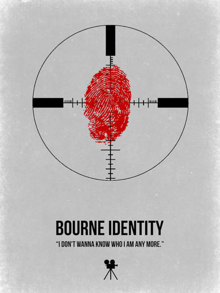 Wall Art - Digital Art - Bourne Identity by Naxart Studio