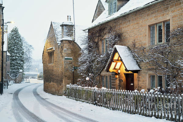 First Snowfall Wall Art - Photograph - Bourton In The Winter by Tim Gainey