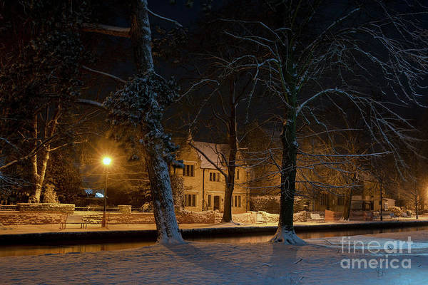 Wall Art - Photograph - Bourton On The Water In The January Snow by Tim Gainey