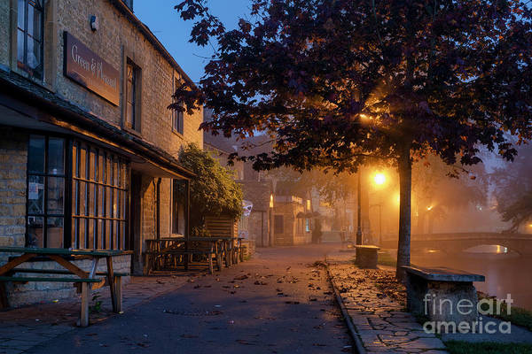 Bourton On The Water October Morning Art Print by Tim Gainey