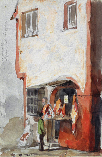 Wall Art - Painting - Boutique De Boucher, The Butcher's Shop - Digital Remastered Edition by James McNeill Whistler