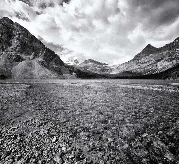 Bow River Wall Art - Photograph - Bow Creek Black & White by Paul Bruins Photography