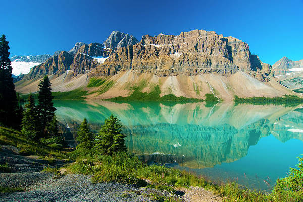 Bow River Wall Art - Photograph - Bow Lake, Banff, Canadian Rockies by All Rights By Krishna.wu