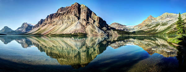 Bow River Wall Art - Photograph - Bow Lake Panorama by Glenn Ross Images