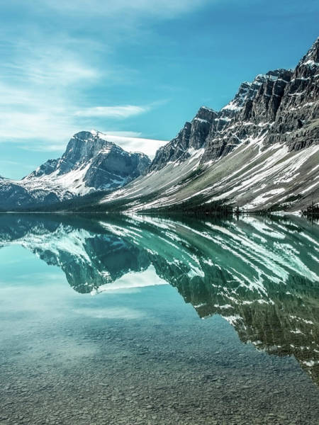 Photograph - Bow Lake Reflections by Claudia Abbott