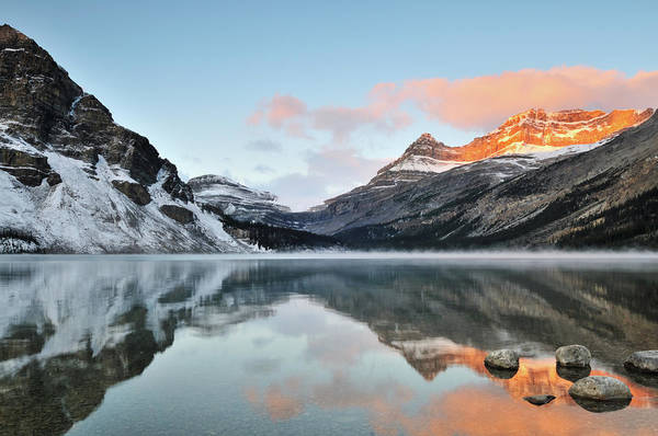 Bow River Wall Art - Photograph - Bow Lake Sunrise, Banff National Park by Lijuan Guo Photography