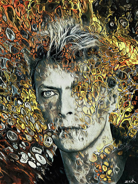Wall Art - Painting - Bowie - I Can't Give Everything Away by Bobby Zeik