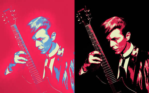Wall Art - Painting - Bowie Panel Pop Art by Dan Sproul