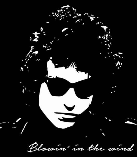 Bob Dylan Digital Art - Bowin' In The Wind by Filip Hellman