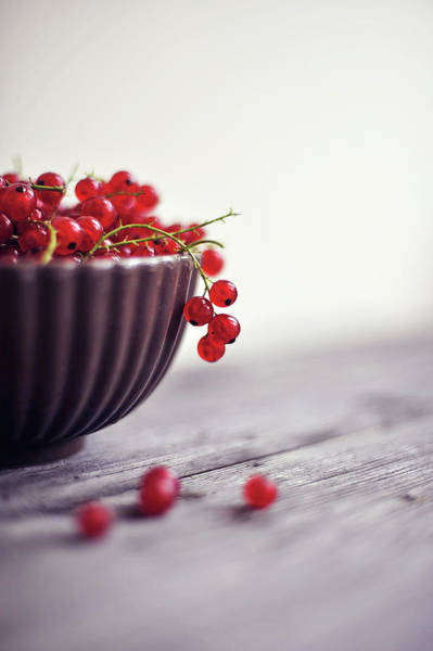 Currants Photograph - Bowl Full Of Berries by = Blue Spoon =