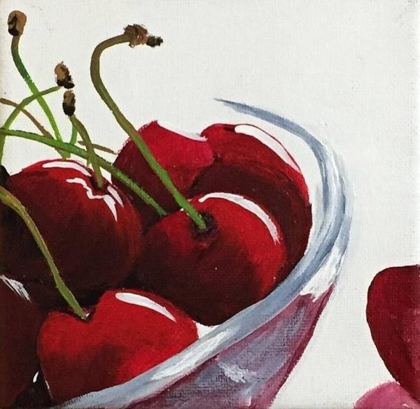 Painting - Bowl Of Cherries by Sharon Duguay