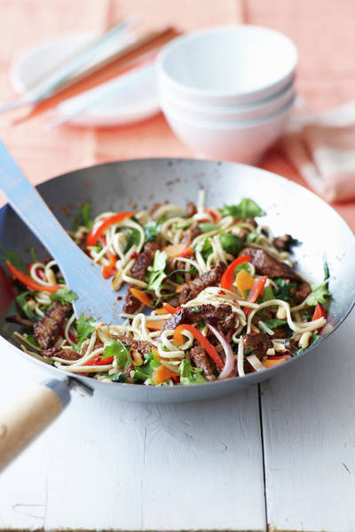 Stir Photograph - Bowl Of Chili And Beef Noodles by Cultura Rm Exclusive/brett Stevens