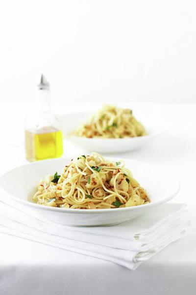 Napkin Photograph - Bowl Of Spaghetti by Brett Stevens