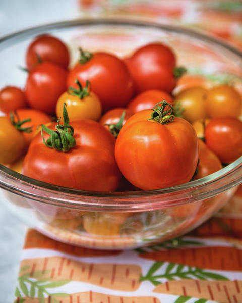 Photograph - Bowl Of Tomatoes by Rebecca Cozart