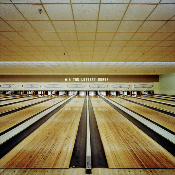 Ten Pin Bowling Wall Art - Photograph - Bowling Alley by Richard Ross