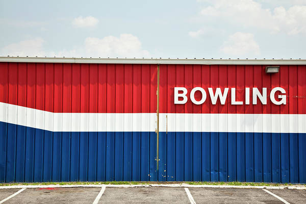 Ten Pin Bowling Wall Art - Photograph - Bowling Alley by Simon Willms