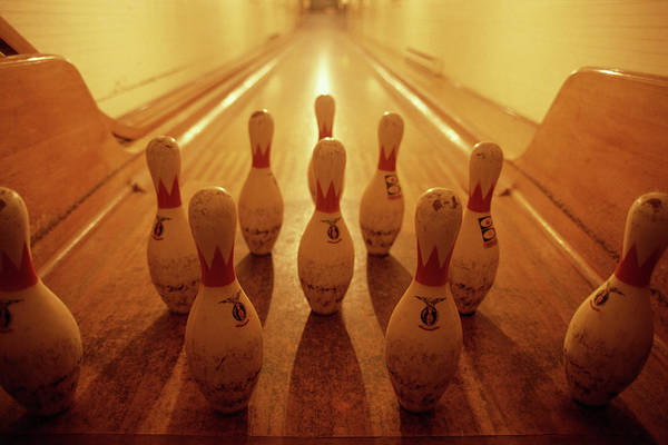 Ten Pin Bowling Wall Art - Photograph - Bowling Alley by Tim Bieber