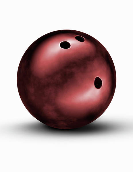 Ten Pin Bowling Wall Art - Photograph - Bowling Ball by Burazin